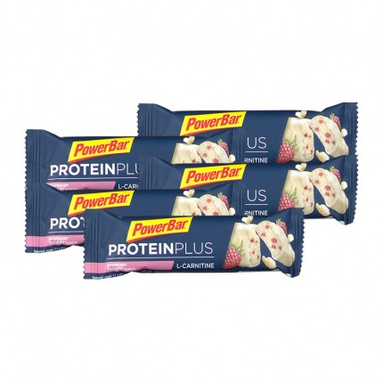 Powerbar ProteinPlus Bar + L-Carnitin, Himbeere-Joghurt, Riegel (5 x 35 g)