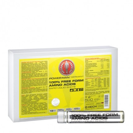 PowerMan 100% Free Form Amino Acids, Trinkampullen
