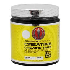 PowerMan Creatine Chewing Tabs, Kautabletten