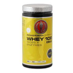 PowerMan WHEY 106 ISO25 + Enzymes Erdbeer, Pulver