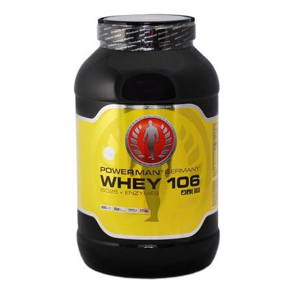 PowerMan WHEY 106 ISO25 + Enzymes Vanille, Pulver