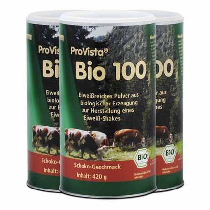 Bio Eiweiß, Schokolade, Pulver (3 x 420 g)