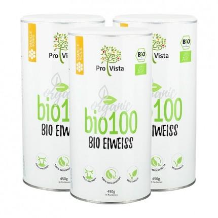 Bio Eiweiß, Vanille, Pulver (3 x 420 g)