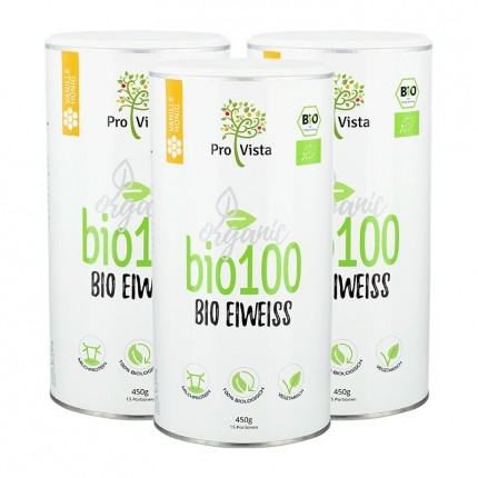 3 x ProVista Bio Eiweiß Vanille, Pulver