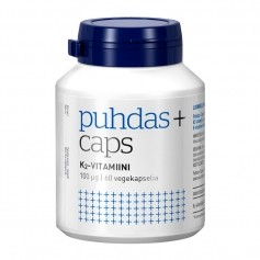 Puhdas+ Caps luonnollinen K2 vitamiini 100 ug