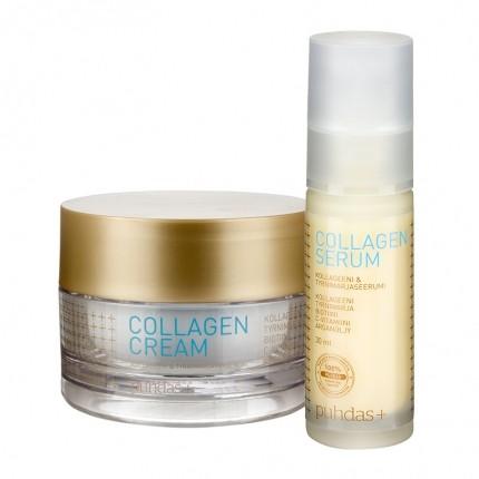 Puhdas+ Collagen Serum ja Puhdas+ Collagen Cream -setti