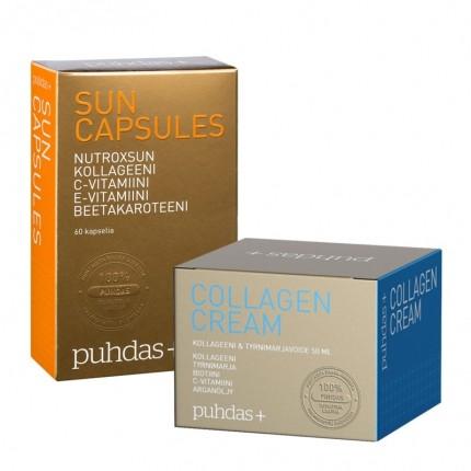 Puhdas+ Sun Capsules + Collagen Creme
