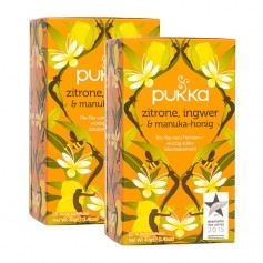 Pukka Bio Zitrone, Ingwer & Manuka Tee
