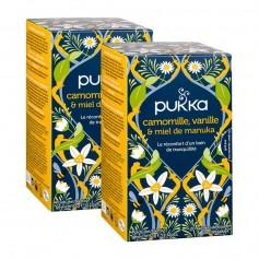 Pukka, Infusion bio camomille, vanille et miel de manuka, sachets, lot de 2