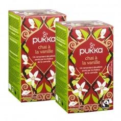 Pukka, Infusion Chai vanille bio, lot de 2