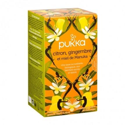 Pukka, Infusion bio citron gingembre et miel de manuka, lot de 2