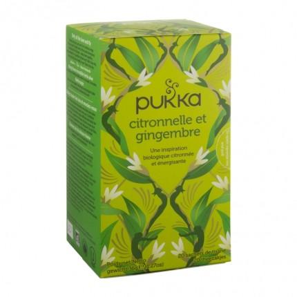 Pukka, Tisane bio citronnelle et gingembre, sachets, lot de 2