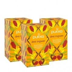 3 x Pukka Drei Ingwer Tee Bio