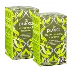 Pukka, Thé vert matcha suprême, lot de 2