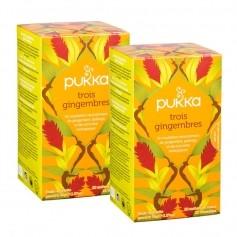 Pukka, Infusion bio aux trois gingembres, lot de 2