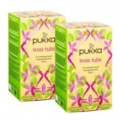 Pukka, Tisane bio trois tulsis, lot de 2
