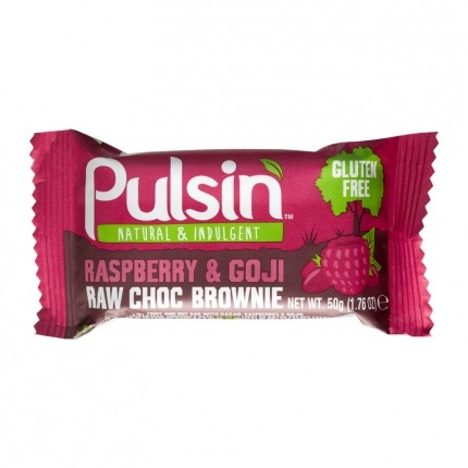 3 x Pulsin Raspberry & Goji Raw Choc Brownie