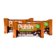 3 x Pulsin Maca Bliss Raw Choc Brownie