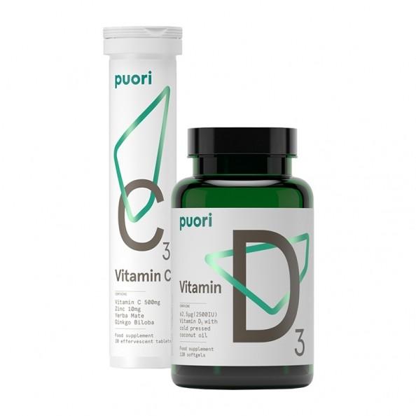 puori immun set vitamin c vitamin d und zink bei nu3. Black Bedroom Furniture Sets. Home Design Ideas