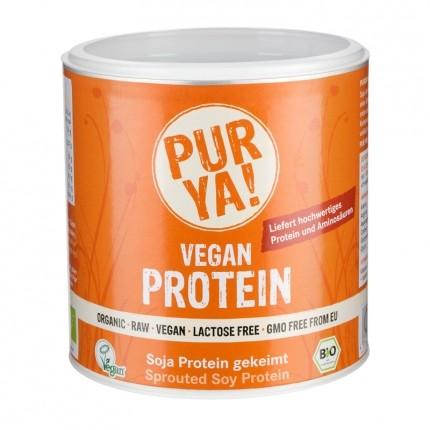 PURYA! Bio Vegan Protein - Soja Protein gekeimt, Pulver