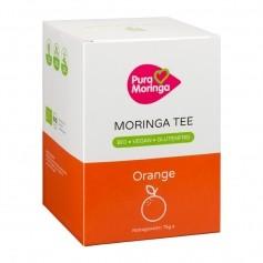 PURA MORINGA Bio Moringa-Tee Orangen-Zauber