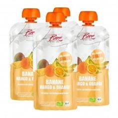 4 x Pure Banane, Mango & Orange Bio-Fruchtpüree