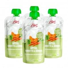 4 x Pure Apfel, Karotte & Kürbis Bio-Fruchtpüree