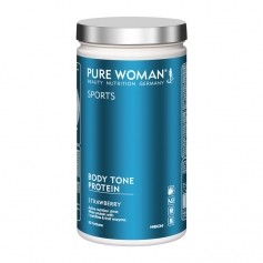 Pure Woman, Body Tone protein fraise, poudre