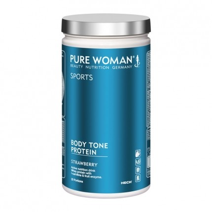 Pure Woman Body Tone Protein jordgubbar, pulver