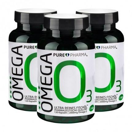 3 x PurePharma Omega-3, kapsler