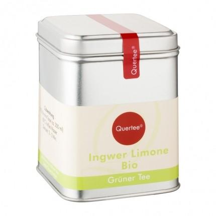 Quertee Bio Grüner Tee - Sencha Ingwer Limone (110 g)