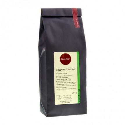 Quertee Bio Grüner Tee - Sencha Ingwer Limone (250 g)