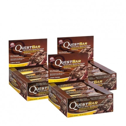 3 x Quest Nutrition Quest Bar Chocolate Brownie