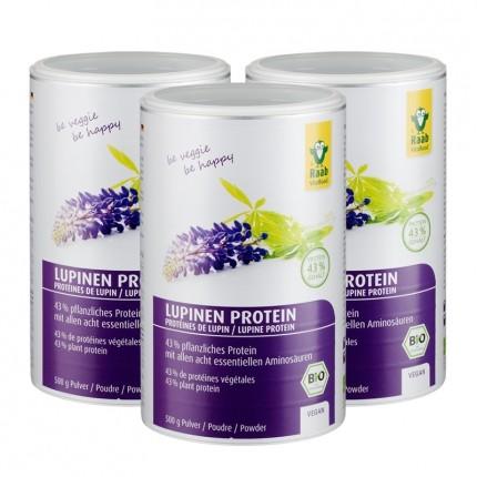 3 x Raab Vitalfood Bio Lupinen Protein, Pulver