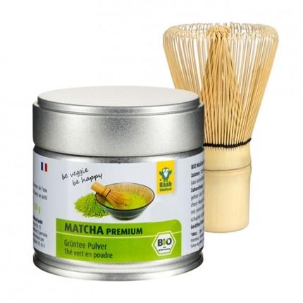 Raab Vitalfood Bio Premium Matcha Tee mit nu3 M...