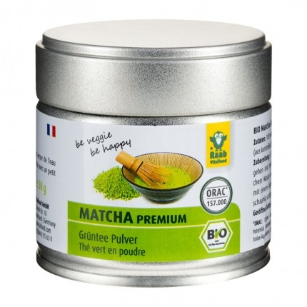 Raab Vitalfood Bio Matcha Premium, Pulver (30 g)