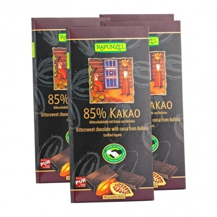 4 x RAPUNZEL Bitterschokolade mit 85 % Kakao Bio