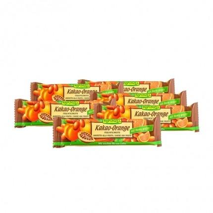 6 x RAPUNZEL Bio Fruchtschnitte Kakao-Orange