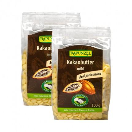 2 x RAPUNZEL Bio Kakaobutter mild