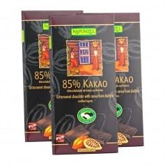 3 x RAPUNZEL Bitterschokolade mit 85 % Kakao Bio