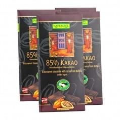 4x RAPUNZEL Ekologisk mörk choklad med 85% kakao