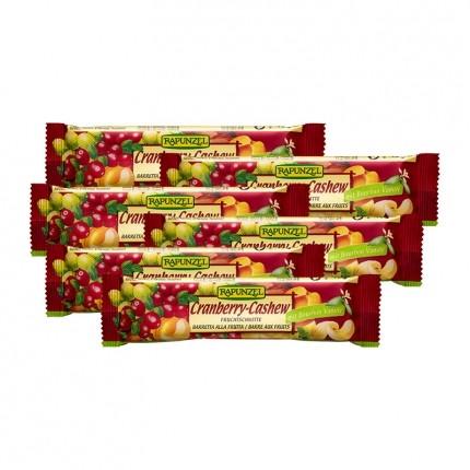 6 x RAPUNZEL økologisk fruktbar med tranebær og cashewnøtter