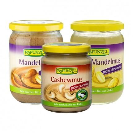 RAPUNZEL Bio weißes Mandelmus + Mandelmus + Cashewmus