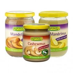 RAPUNZEL, Set de 3 purées bio: amande blanche + amande + noix de cajou
