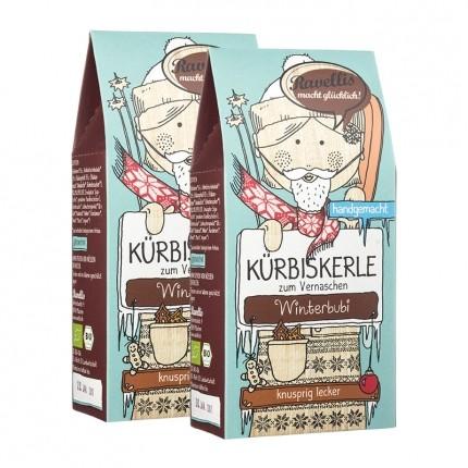 Ravellis Bio Kürbiskerle Winterbubi, Vollmilchschokolade-Lebkuchen