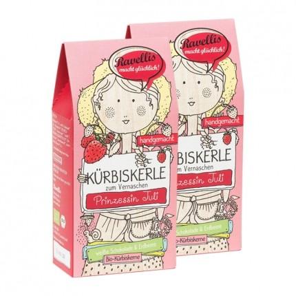 Ravellis Bio Kürbiskerne, Weiße Schokolade-Erdbeere
