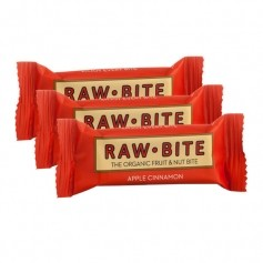 RAW BITE, Barres pomme cannelle, barres, lot de 3