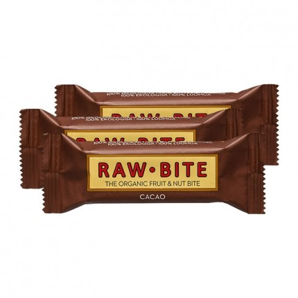 3 x Raw Food Raw Bite Kakao, energibar