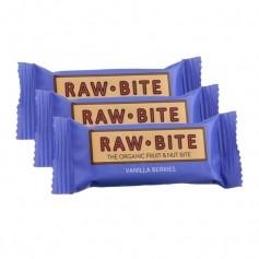 3 x Raw Food Raw Bite, energibar med bær og vanilje
