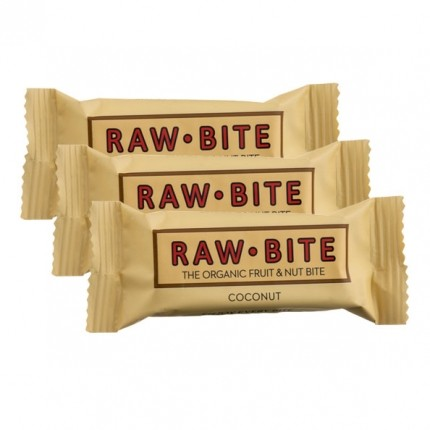 Rawbite Bio Riegel, Kokosnuss (3 x 50 g)